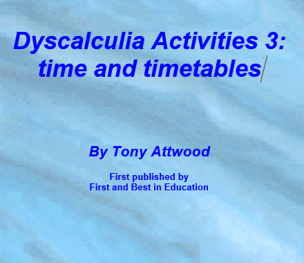 Dyscalculia activities 3: time and timetables