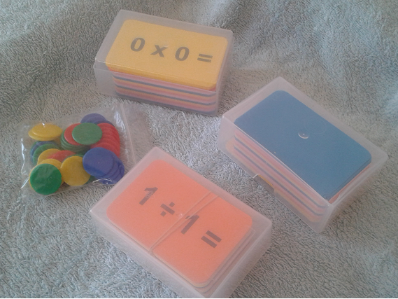 Maths cards and counters
