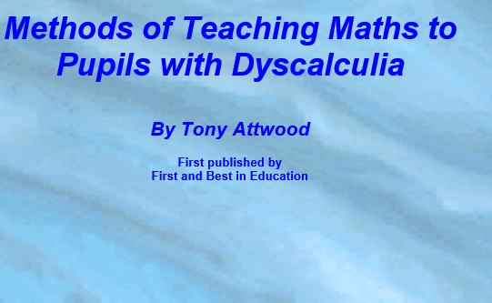 Methods of Teaching Maths to Pupils with Dyscalculia
